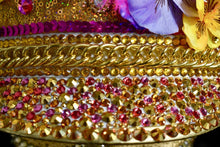 Load image into Gallery viewer, Golden Bouquet Festival Hat - JewelBritanniaHats