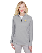 Load image into Gallery viewer, Ladies' Clubhouse Micro-Stripe Quarter-Zip