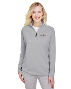 Ladies' Clubhouse Micro-Stripe Quarter-Zip