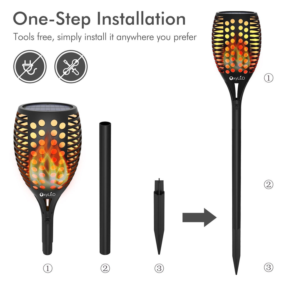 Hot Selling!!!LED Solar Path Torch Light Dancing Flame - Secret Lake Store