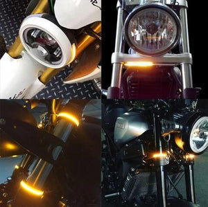 40% OFF TODAY!!! FORK MOUNT LED TURN SIGNALS ,DOUBLE COLOR TRANSFORMATION - Secret Lake Store