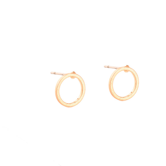 Tomorrow is Today - Circle Stud Earrings