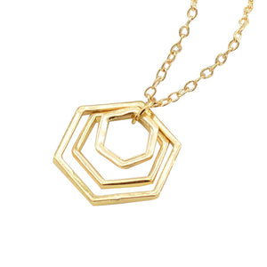 Tomorrow is Today - Polygon Pendant Necklace