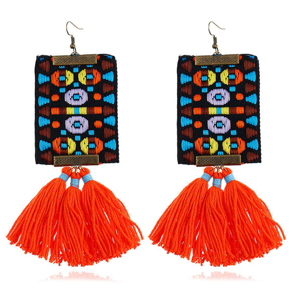 Handmade Bohemian Tassel Earrings