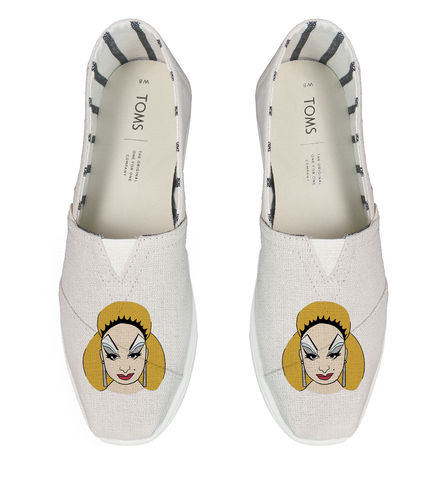 Divine Cartoon Head - White TOMS Alpargata