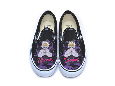 Divine Sea Queen Black Slip On Vans
