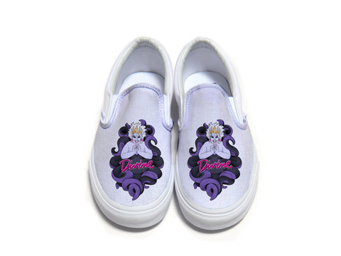 Divine Sea Queen White Slip On Vans