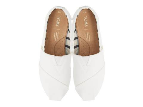 Custom Slip-On Toms - Classic Alpargata - White