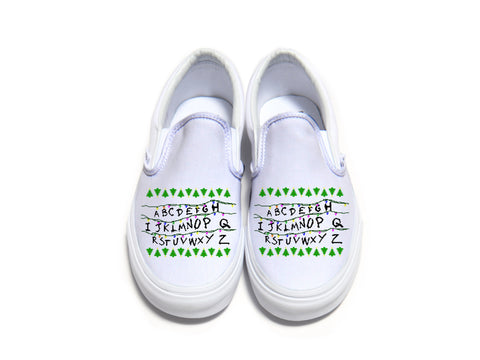 Stranger Things Alphabet Vans