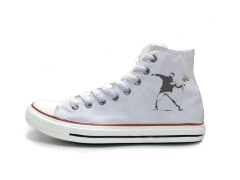 Banksy Flower Throwing Chucks