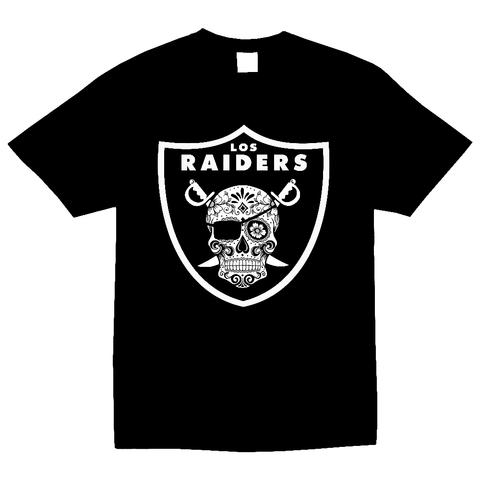 Los Raiders Sugar Skull Mens T Shirt