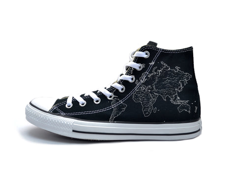 Vintage Map (White) Chucks