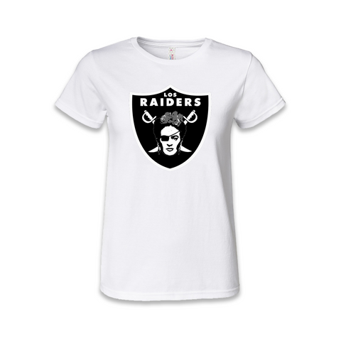 Los Raiders Frida Kahlo Womens T Shirt