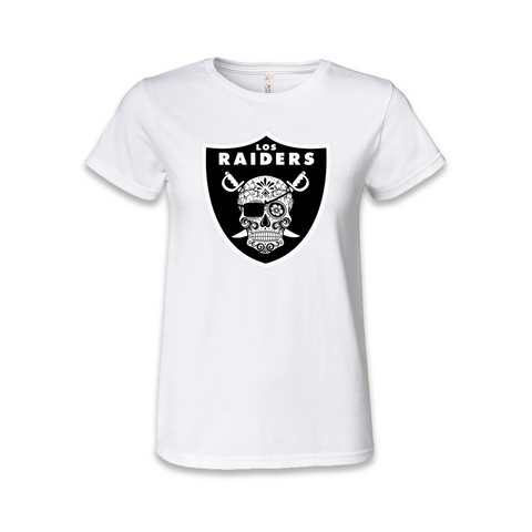 Los Raiders Sugar Skull Womens T Shirt