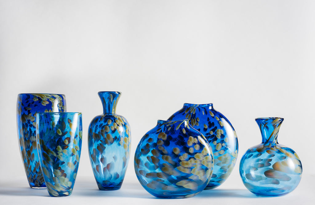 Blue Appalachian Hand Blown Glass