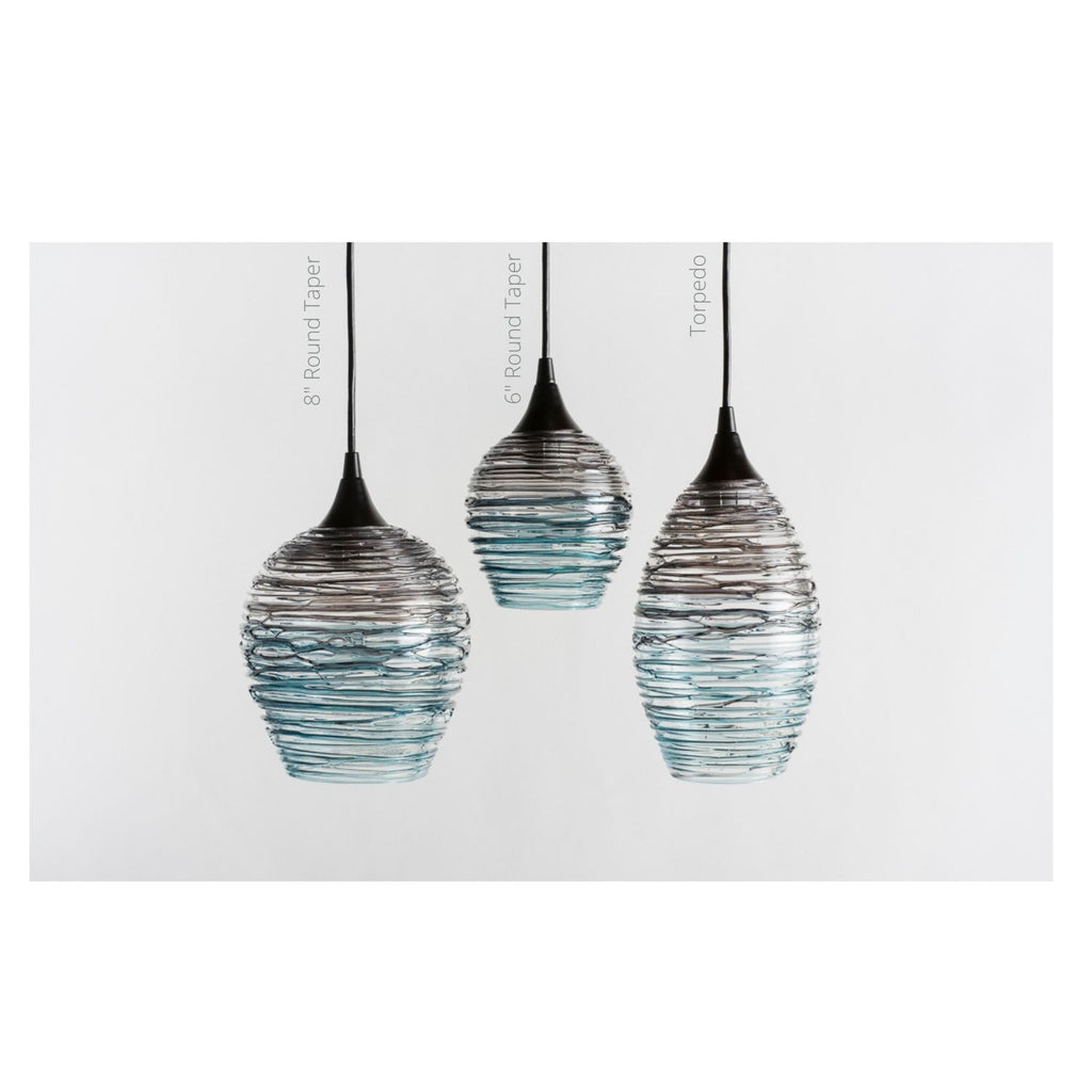 Hand Blown Glass, Nesting Lighting Collection