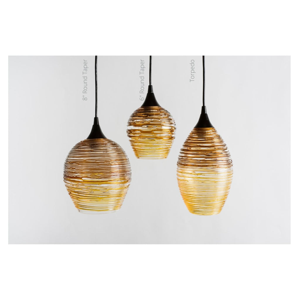Hand blown glass pendant lights Asheville