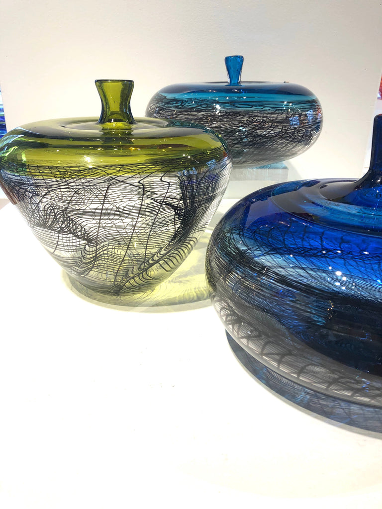 Artist Collection, Hand Blown Glass Encalmo Bottle