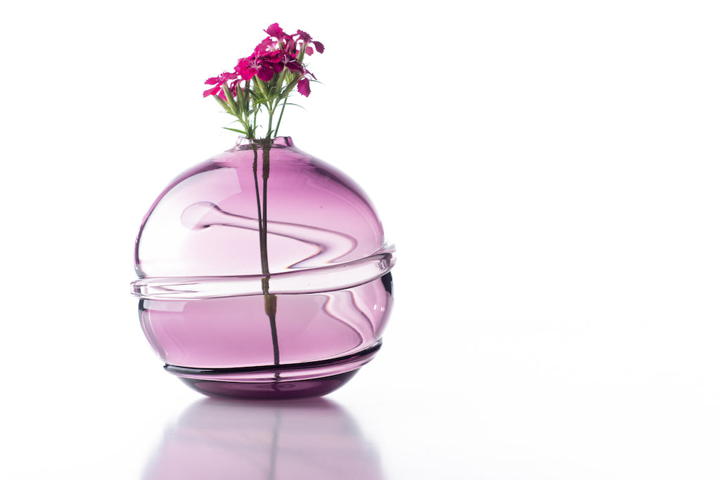 Hand Blown Glass, Hyacinth Water Orb