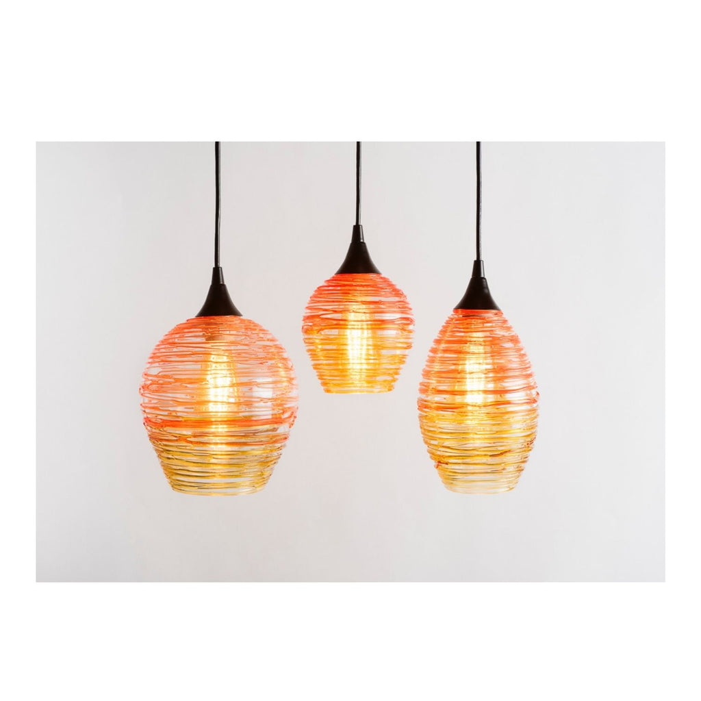 Nesting Lighting Collection | Dark Orange + Gold