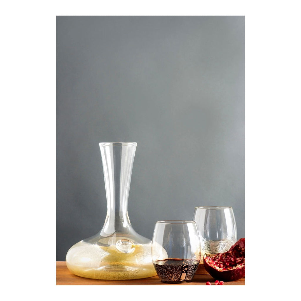 Decanter and Stemless Wine Glass Set
