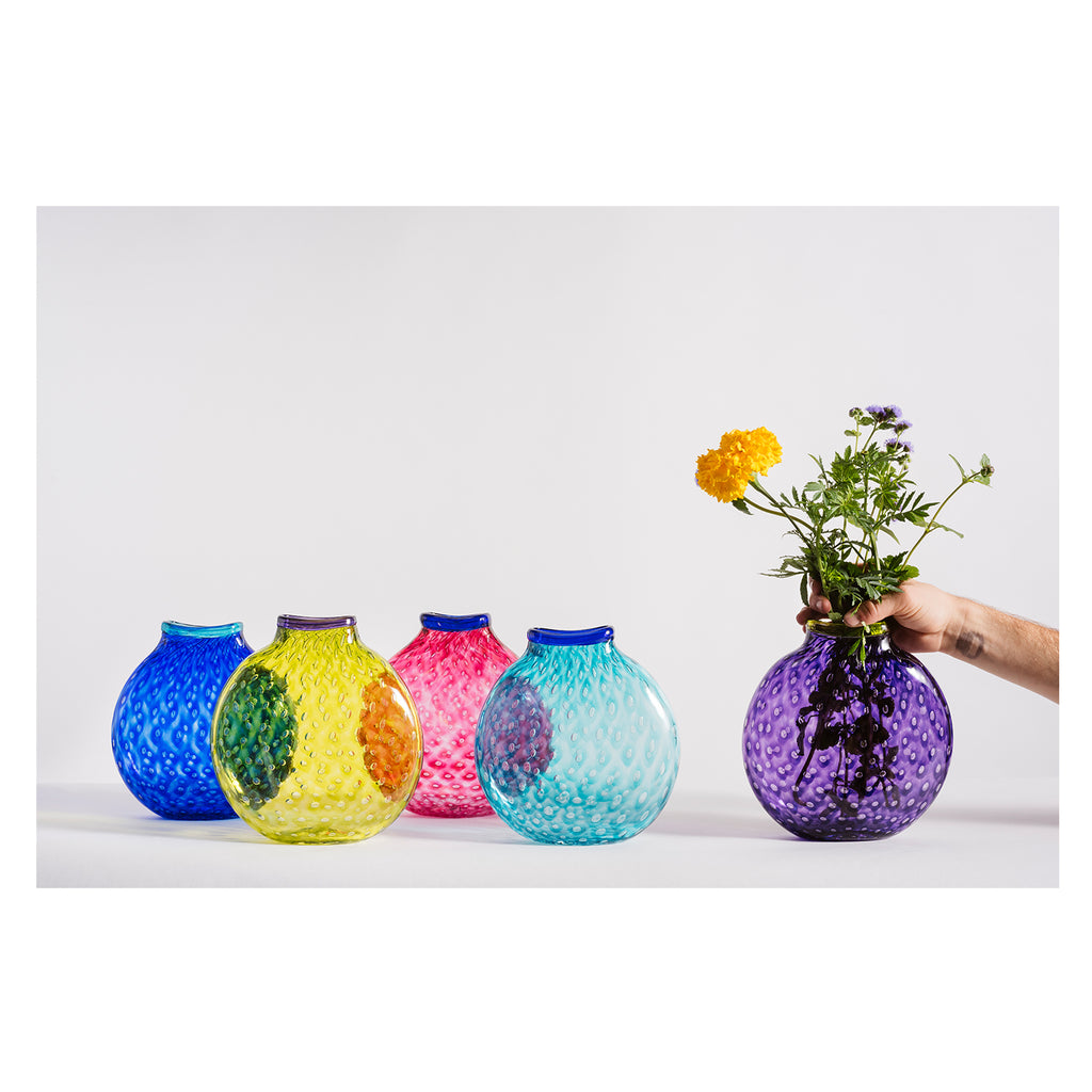 Hand blown Glass Bubble Collection Vase