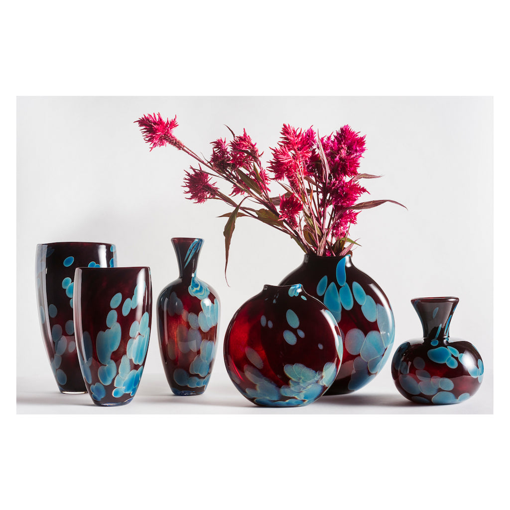 Hand Blown Glass, Red Appalachian Collection