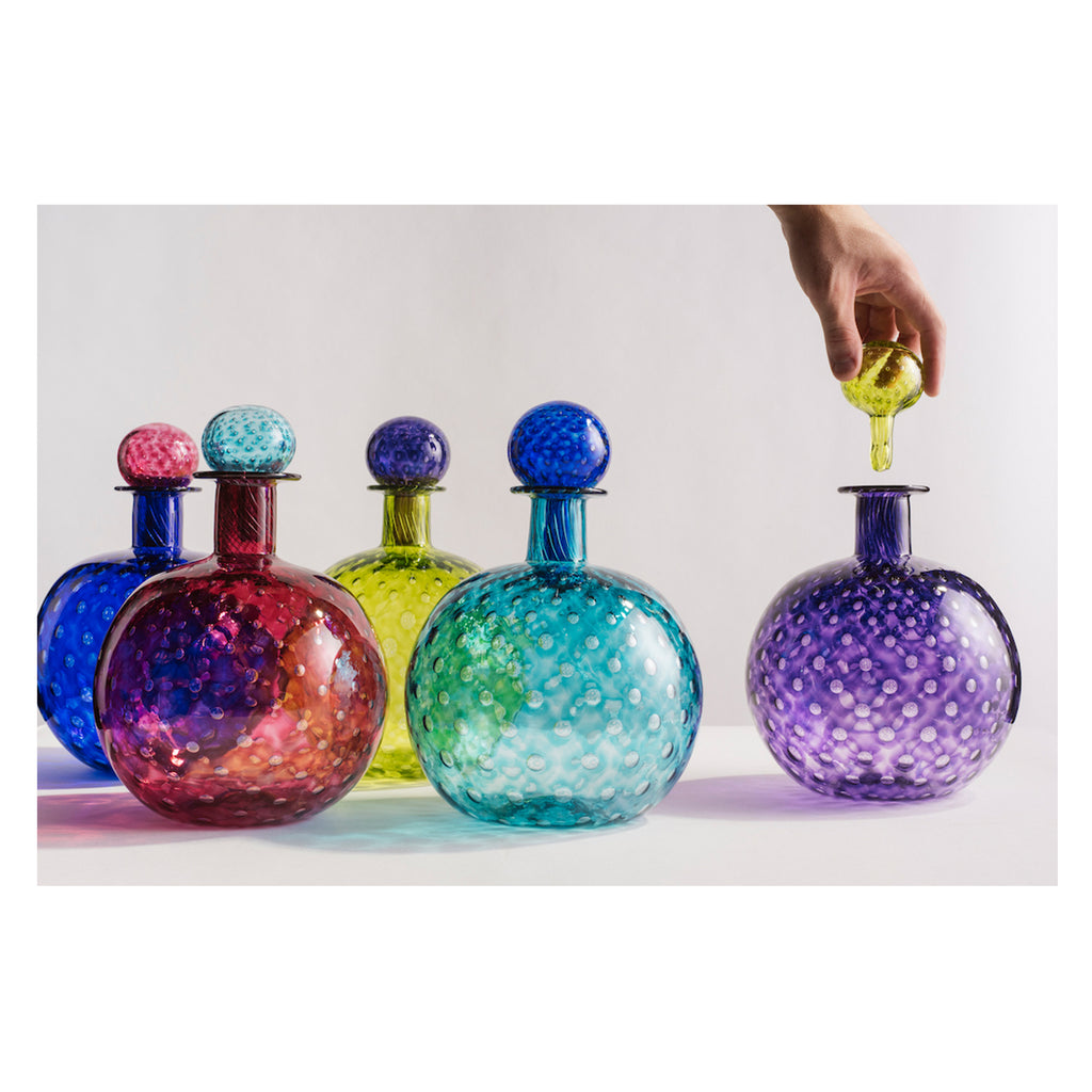 Bubble Collection Bottle Hand Blown Glass