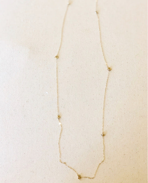 Long Gold Disc Necklace
