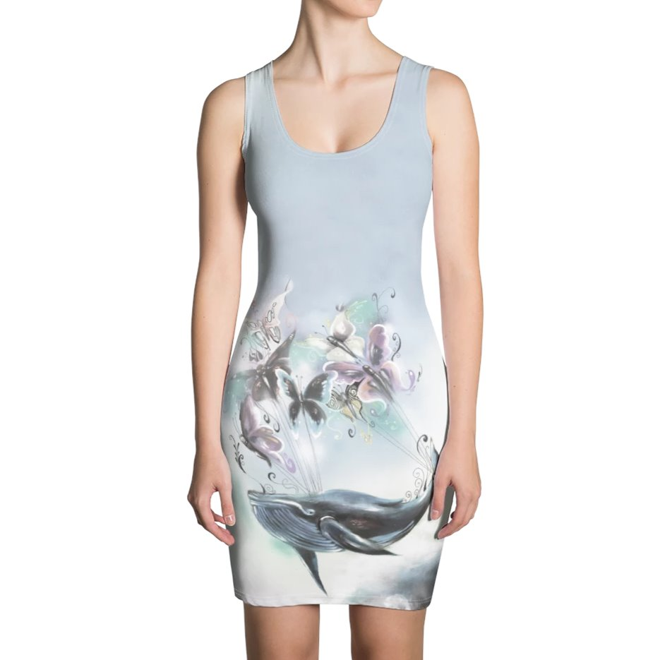 Benny Halldin x DK Whale & Butterflies Dress on David Krug Online Store