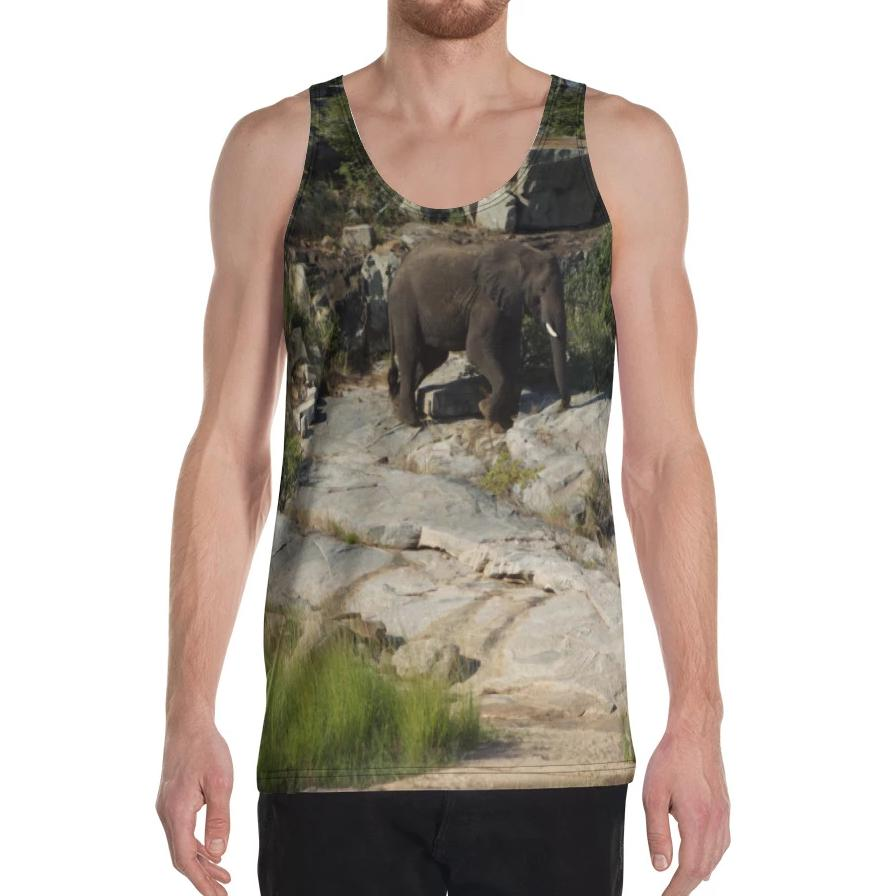 Climbing Elephant Tank Top on David Krug Online Store
