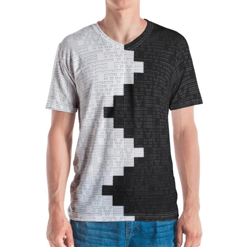 DK Black and White Love Pattern T-shirt on David Krug Online Store