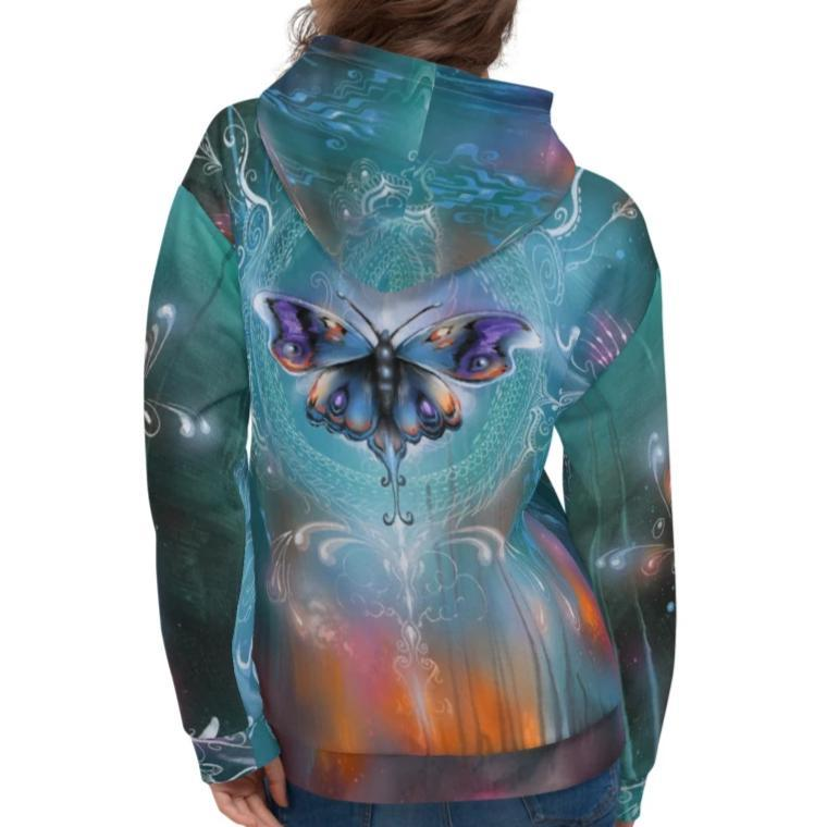 Halldin X Krug Butterfly Graffiti Hoodie 25ITWC on David Krug Online Store