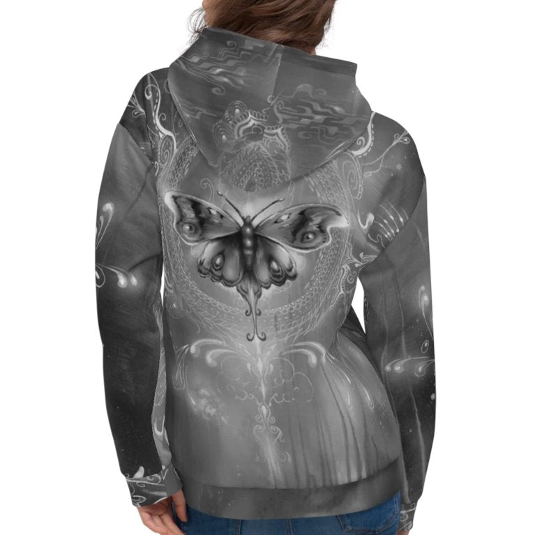Halldin X Krug Butterfly Graffiti Hoodie on David Krug Online Store