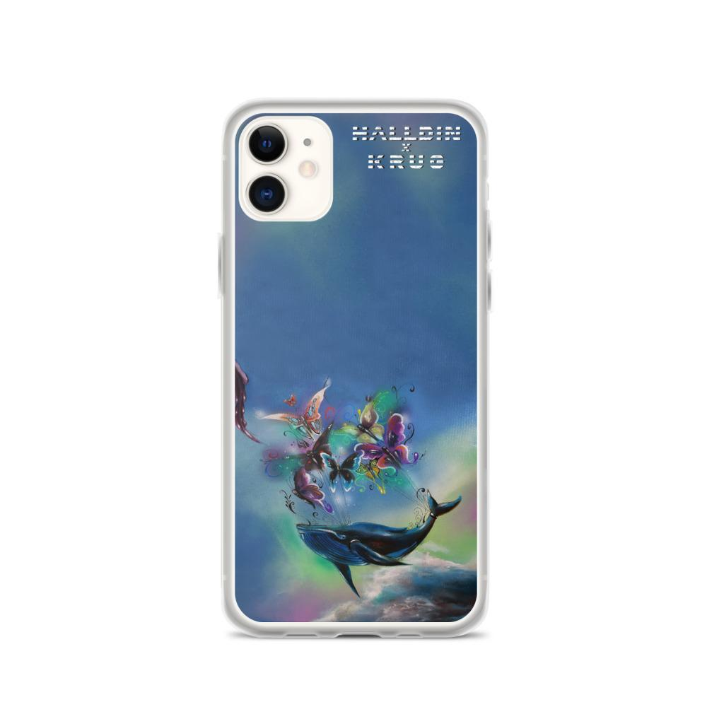 Halldin X Krug Whale & Butterflies iPhone Case on David Krug Online Store