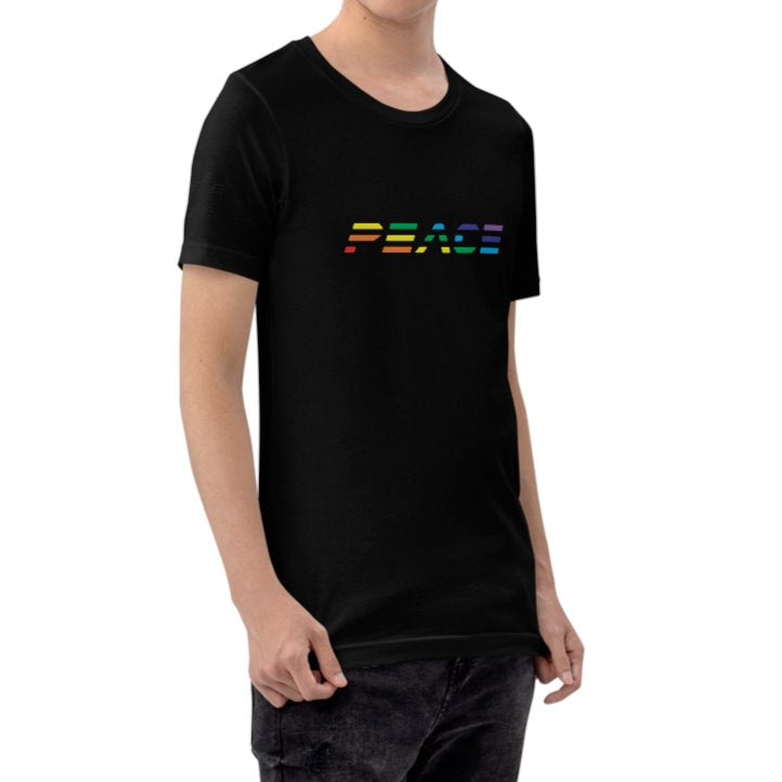 Krug Peace Rainbow T-shirt on David Krug Online Store