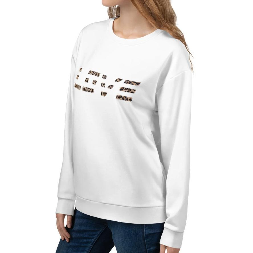 Leopard Love Sweatshirt 25ITWC on David Krug Online Store