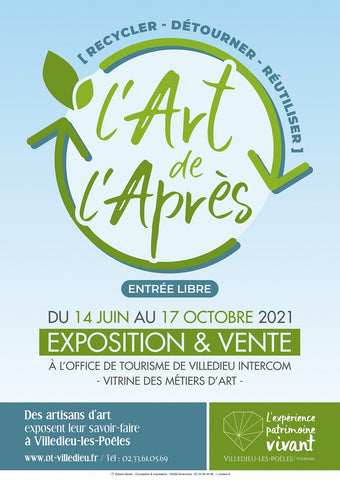 affiche d exposition upcycling normandie