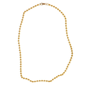 24K Gold Solid Ball Chain Necklace