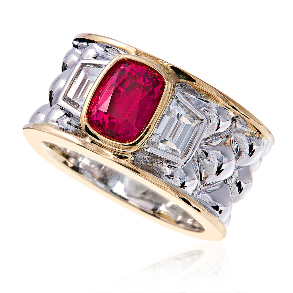 Deco Jedi Spinel Ring