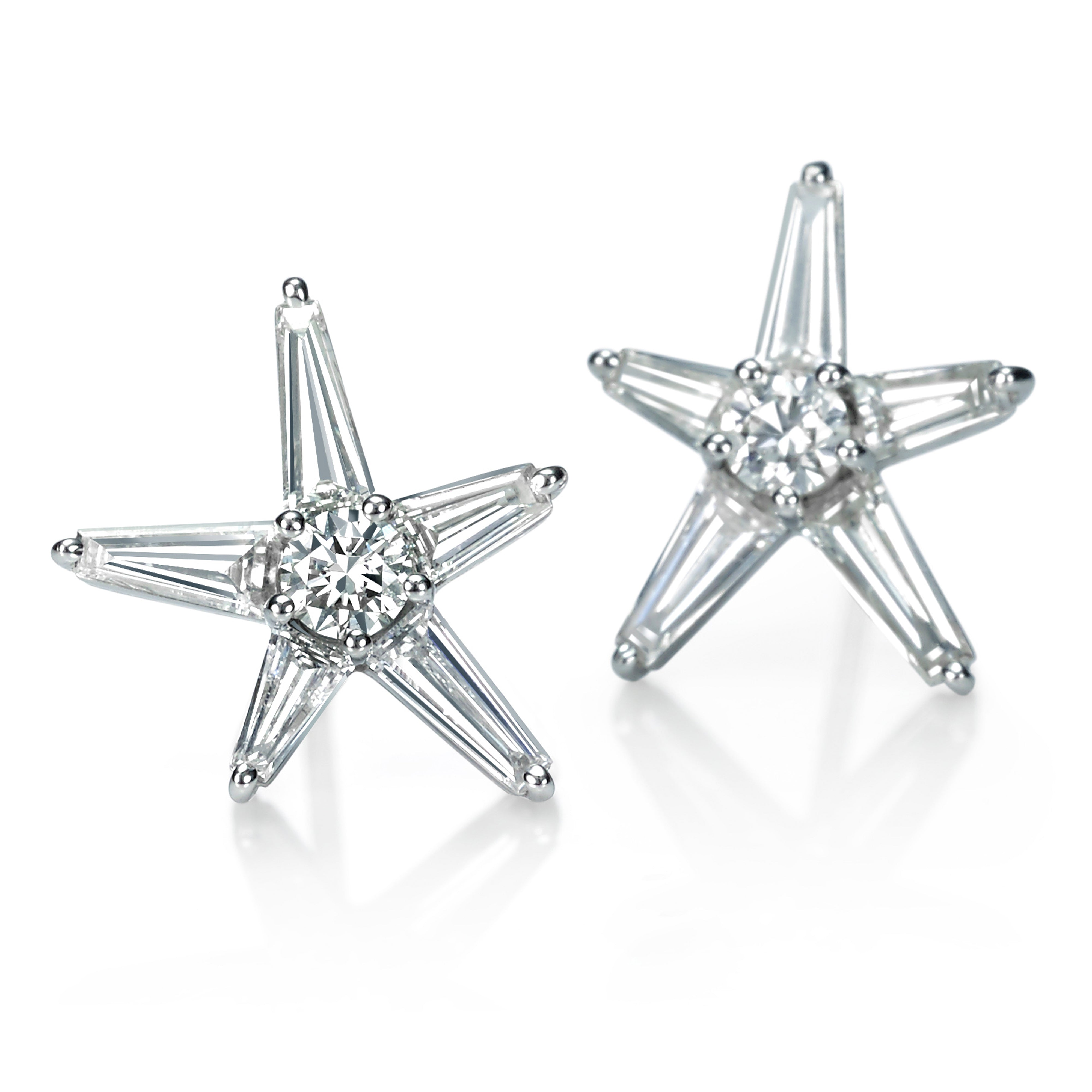 North Star Diamond Earring