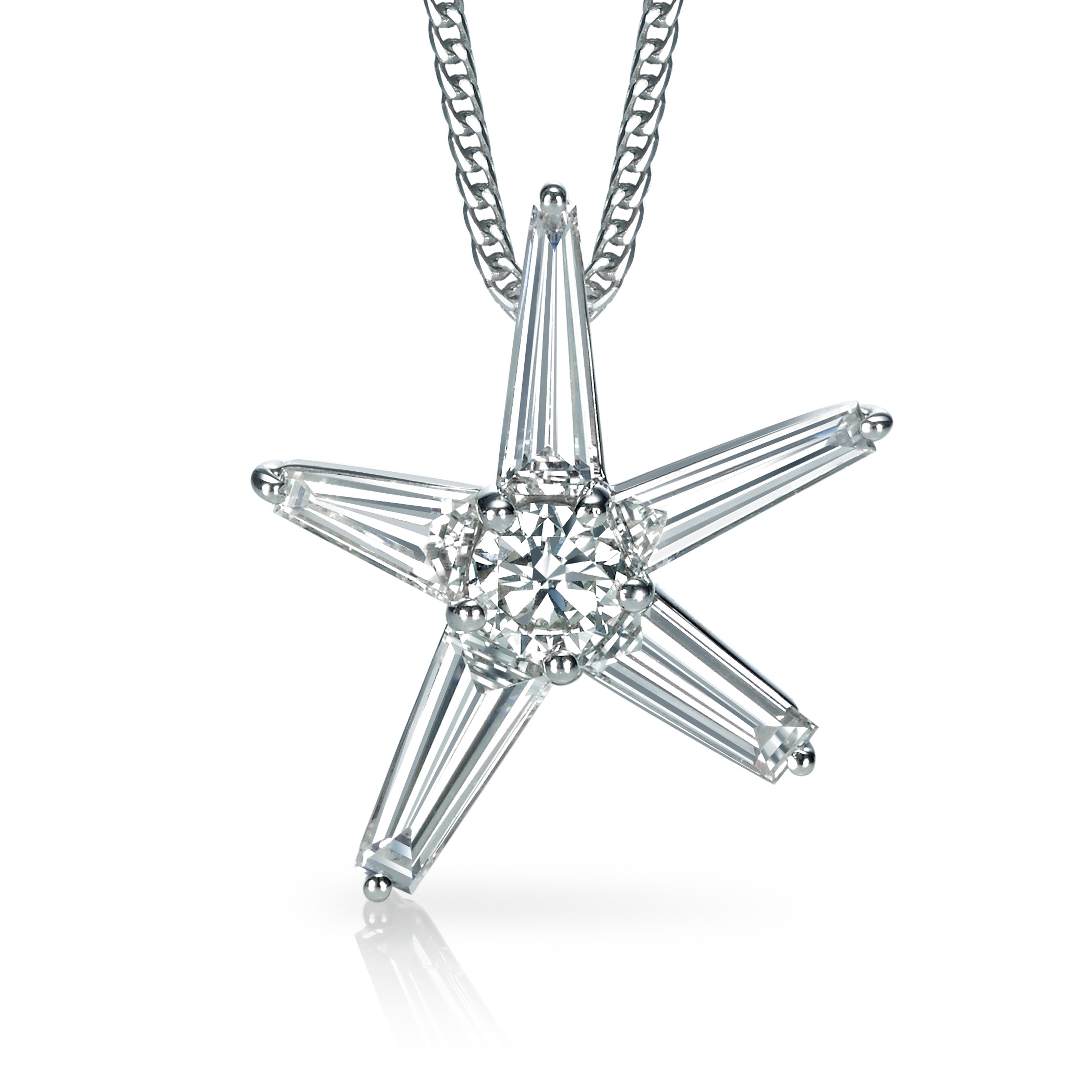 North Star Diamond Pendant Necklace