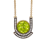 Deco Peridot Pendant Necklace