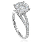 Diamond Engagement Ring with Illusion Setting