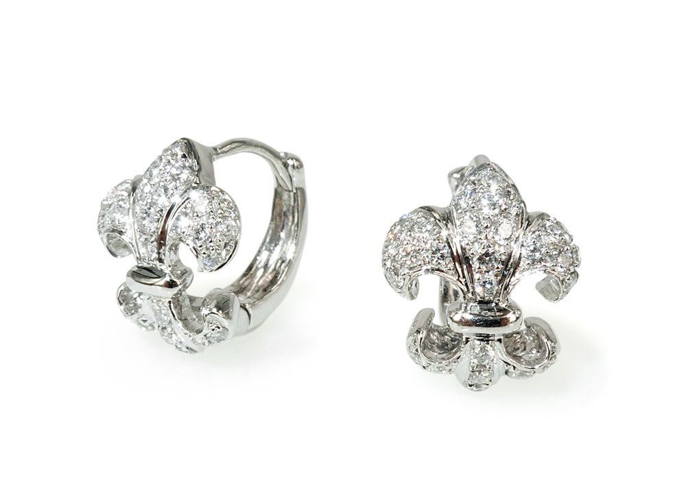 Fleur de Lis Diamond Earrings