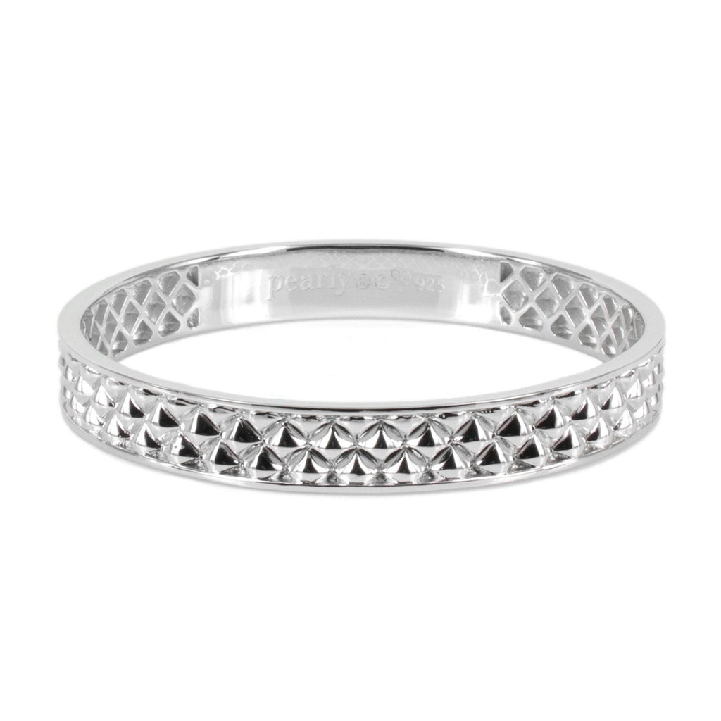 Deco Classic Silver Bangle