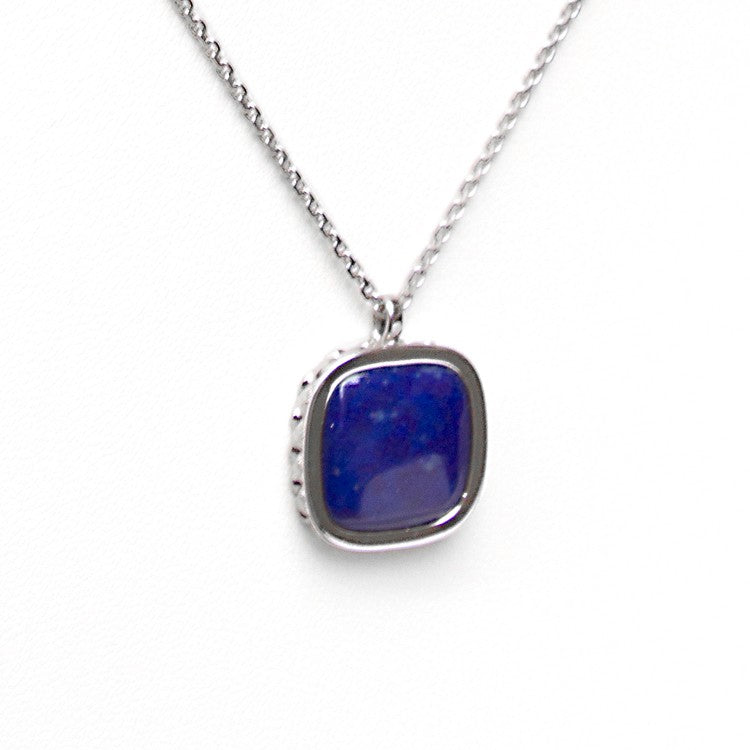 Deco Keystone Necklace - Square Lapis