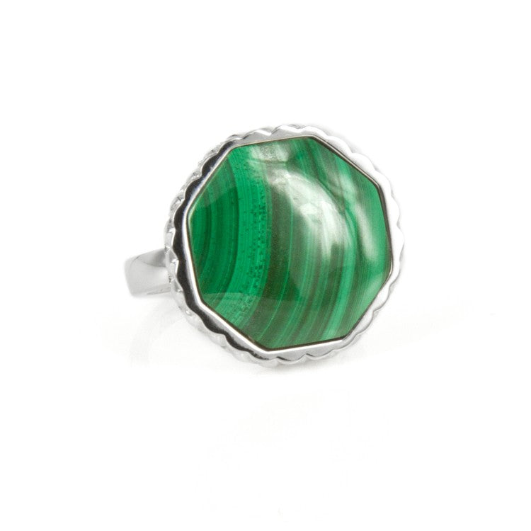 Deco Keystone Ring - Otta Malachite