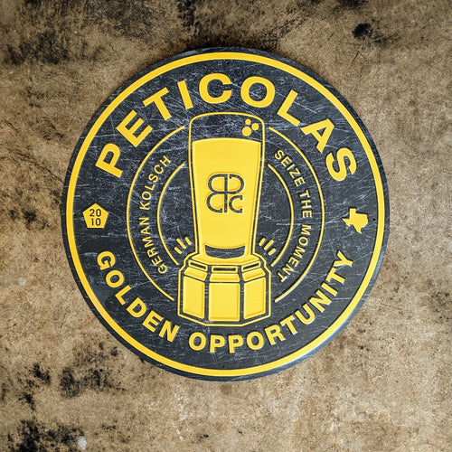 Golden Opportunity Metal Sign