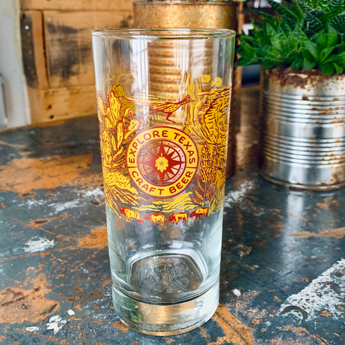 Explore TX Craft Beer Glass